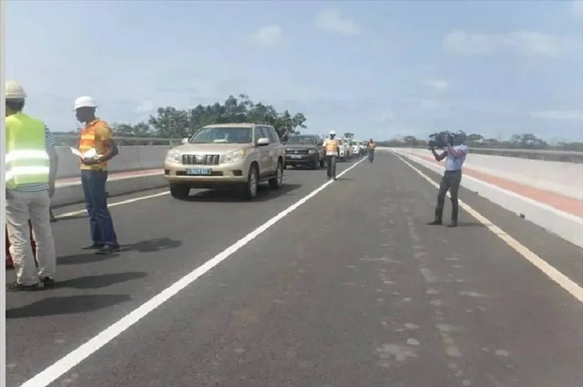 Port-Gentil-Omboué road construction in Gabon ready for use