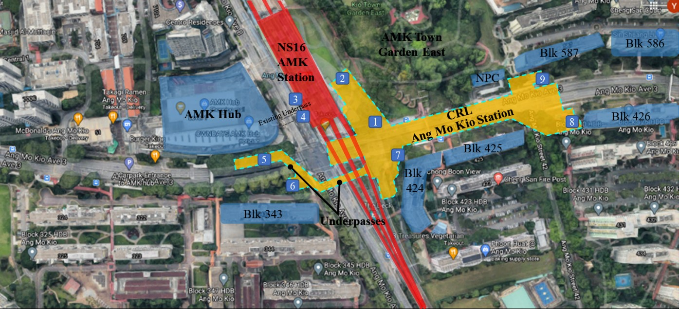 LTA Awards Civil Contract for Design and Construction of Ang Mo Kio Station and Tunnels under Cross Island Line Phase 1