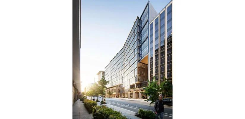 Skanska invests USD 216M, about SEK 1.8 billion, in the office development project 17xM in Washington, DC, USA